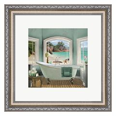Metaverse Art Ocean view II Framed Wall Art