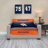 Denver Broncos Quilted Loveseat Cover