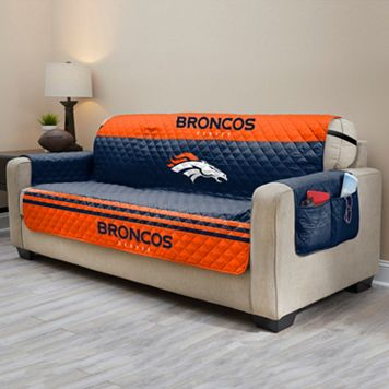 Denver Broncos Quilted Sofa Cover