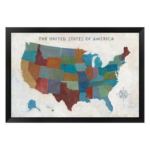 Metaverse Art See The USA Framed Wall Art