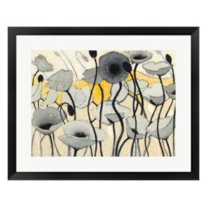 Metaverse Art Snow Day Gray Flower Framed Wall Art