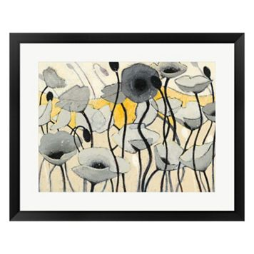 Metaverse Art Snow Day Gray Flower Framed Wall Art