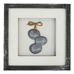 New View 'Live, Love, Laugh' Framed Wall Art