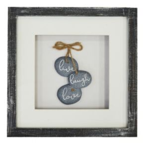"""New View """"Live, Love, Laugh"""" Framed Wall Art"""