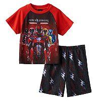 Boys 4-10 Power Rangers 2-Piece Pajama Set