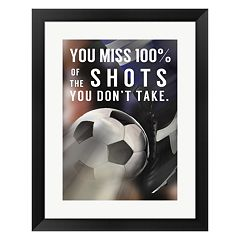 Metaverse Art 'You Miss 100% Of the Shots You Don't Take' Framed Wall Art