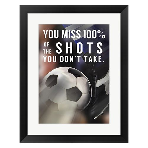"Metaverse Art ""You Miss 100% Of the Shots You Don't Take"" Framed Wall Art"