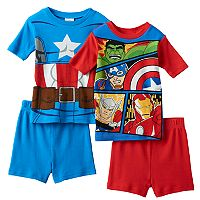 Boys 4-10 Marvel Captain America 4-Piece Pajama Set
