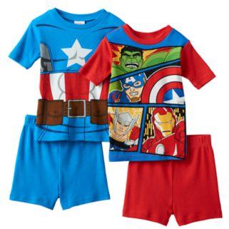 Boys 4-10 Marvel Captain America 4-Piece Pajama Set