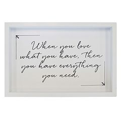 New View 'Love What You Have' Framed Wall Art
