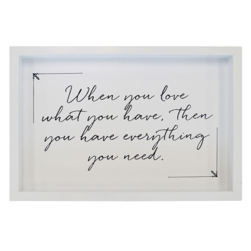 New View Love What You Have Framed Wall Art