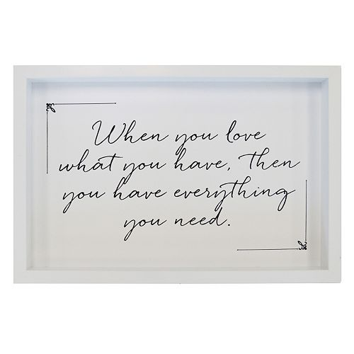 "New View ""Love What You Have"" Framed Wall Art"