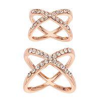 Jennifer Lopez Crisscross Ring Set