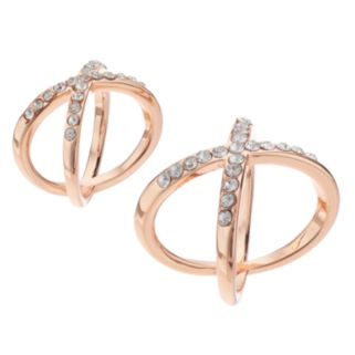 Jennifer Lopez Crisscross Ring Set