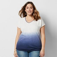 Plus Size SONOMA Goods for Life™ Dip Dye Tee