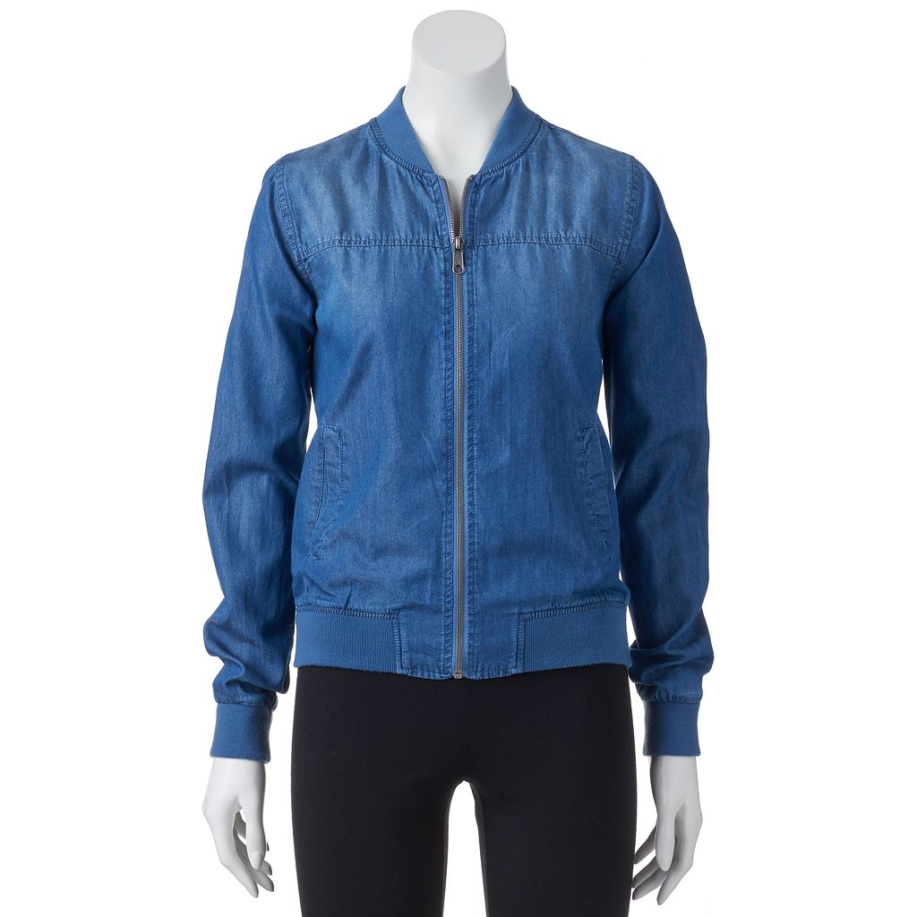 Juniors' SO® Chambray Bomber Jacket