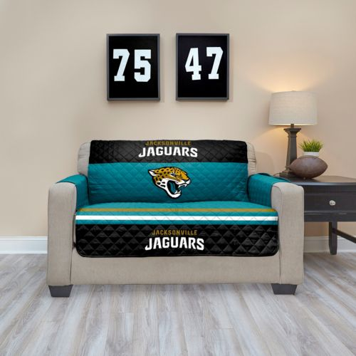 Jacksonville Jaguars Quilted Loveseat Cover