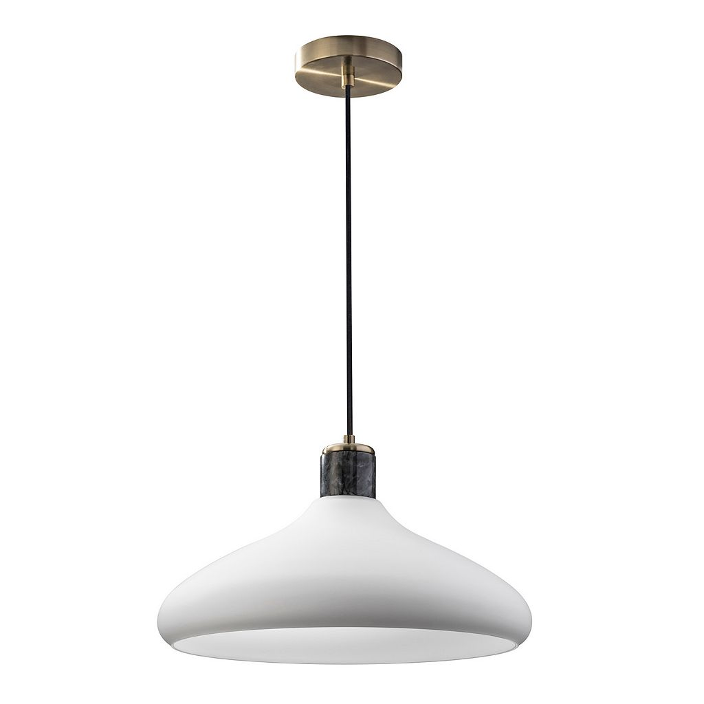 Adesso Astor Frosted Glass Pendant Light