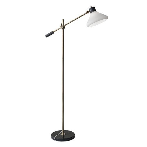 Adesso Astor Frosted Glass Floor Lamp
