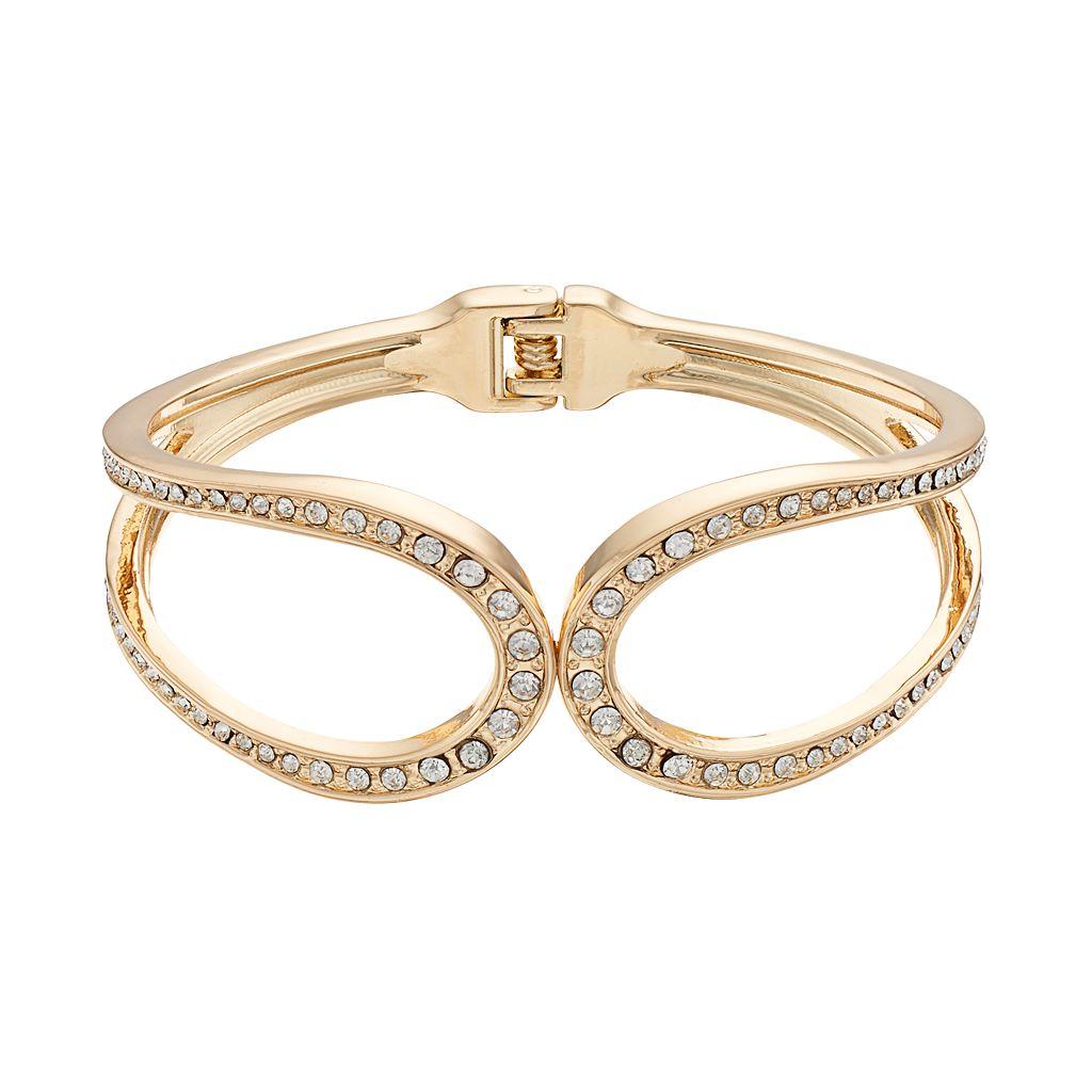 Jennifer Lopez Loop Hinged Bangle Bracelet