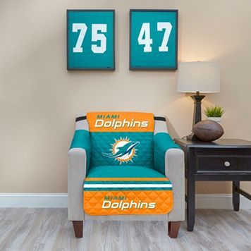 Miami Dolphins Quilted Chair Cover