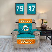 Miami Dolphins Quilted Recliner Chair Cover