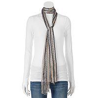 Apt. 9® Zigzag Stripe Knit Skinny Scarf
