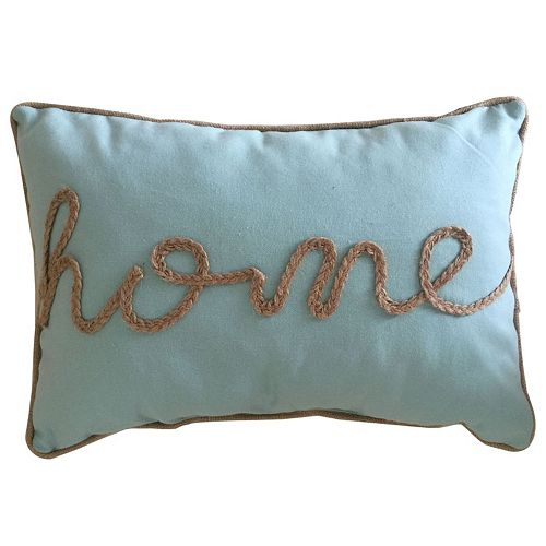 ''Home'' Rope Oblong Throw Pillow