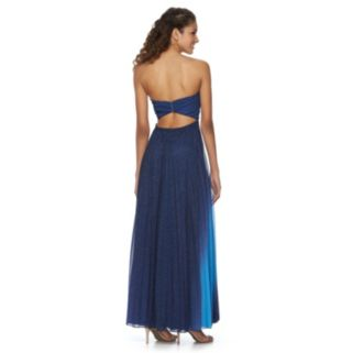 Juniors' Speechless Pleated Evening Dress