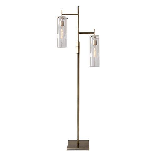 Adesso Dalton 2-Light Tubular Edison Bulb Floor Lamp