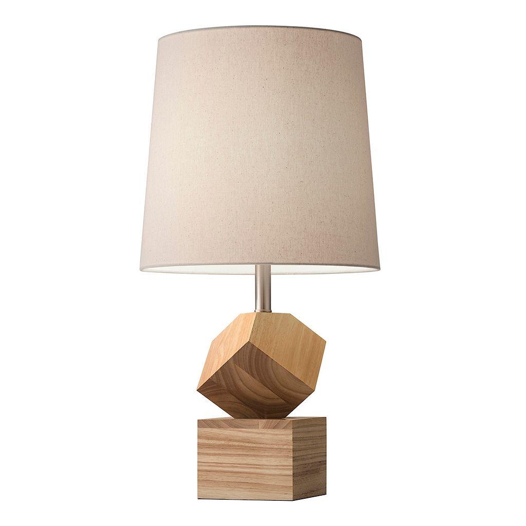 Adesso Logan Geometric Wood Desk Lamp