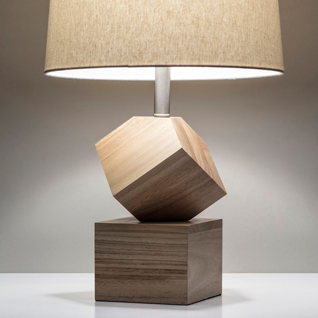 Adesso Logan Geometric Wood Desk Lamp