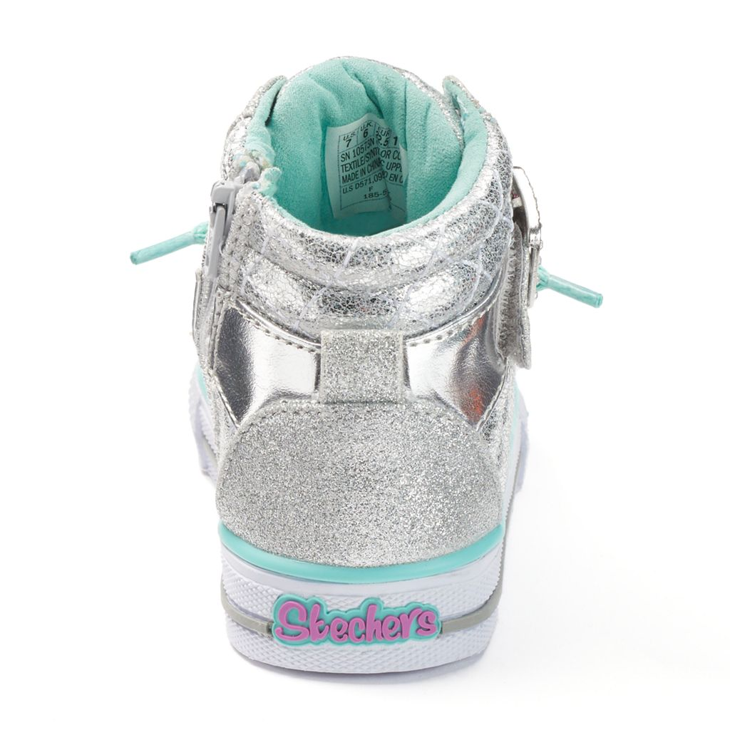 Skechers Twinkle Toes Shuffles Toddler Girls' Light-Up High-Top Sneakers