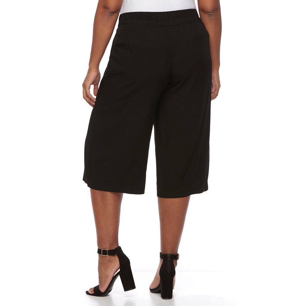 Plus Size Apt. 9® Challis Culottes