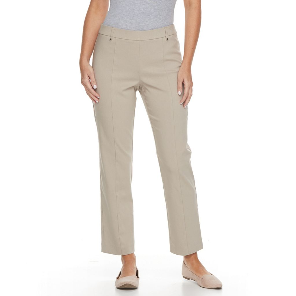 Petite Napa Valley Slimming Solutions Pull On Ankle Pants