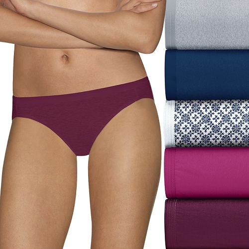 Hanes Ultimate 5-pk. Ultra Soft Cotton Comfort Bikini Panties 42HUC6