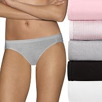 Hanes Ultimate 5-pk. Ultra Soft Cotton Comfort Bikini Panties 42HUCC