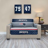 New EnglandPatriots Quilted Loveseat Cover