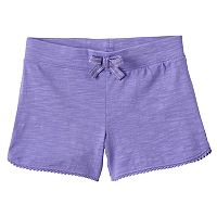 Toddler Girl Jumping Beans® Pom-Pom Trim Slubbed Dolphin Shorts