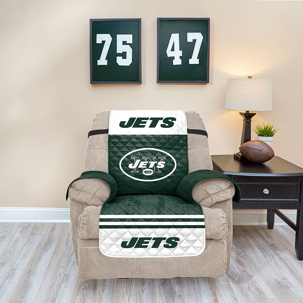 New York Jets Quilted Recliner Chair Cover