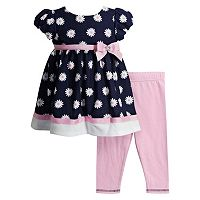 Baby Girl Youngland Floral Dress & Solid Leggings Set