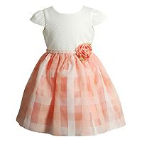Baby Girl Youngland Rosette Basketweave Dress