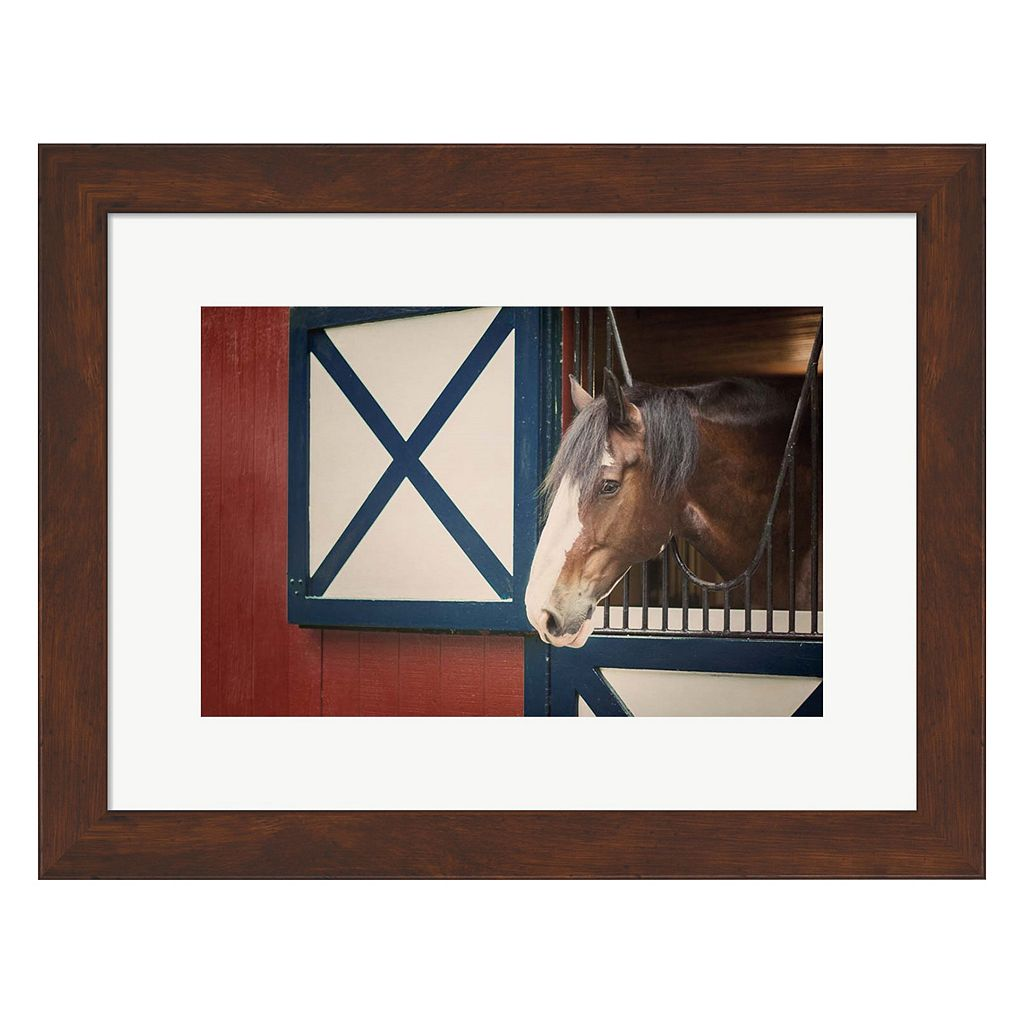 Metaverse Art Patriotic Pony I Framed Wall Art