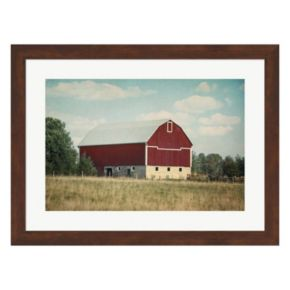 Metaverse Art Blissful Country VI Crop Framed Wall Art
