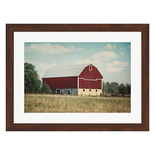 Metaverse Art Blissful Country VI Crop Framed Wall Art