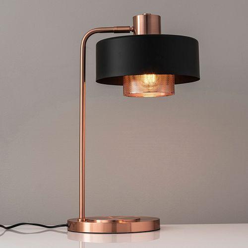 Adesso Bradbury Contrast Copper Finish Desk Lamp