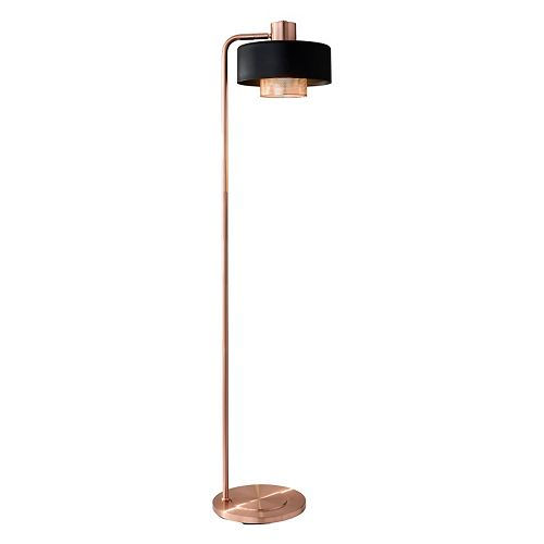 Adesso Bradbury Contrast Copper Finish Floor Lamp