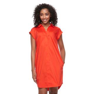 Women's Apt. 9® Poplin Shirtdress