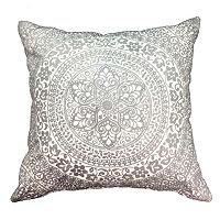 Embroidered Medallion Throw Pillow