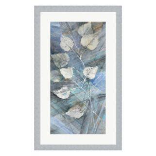 Metaverse Art Silver Leaves I Framed Wall Art